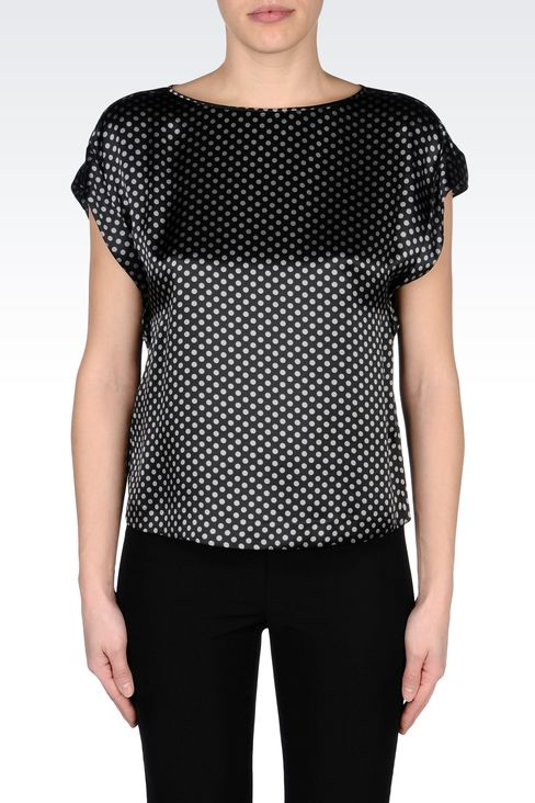 SILK POLKA-DOT BLOUSE: Blouses Women by Armani - 2