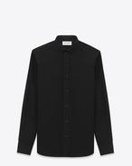Chemise à col Dylan en popeline de coton noire