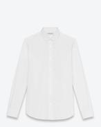 Chemise à col Dylan en popeline de coton blanche