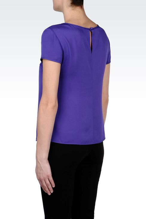 STRETCH SILK BLOUSE: Blouses Women by Armani - 4