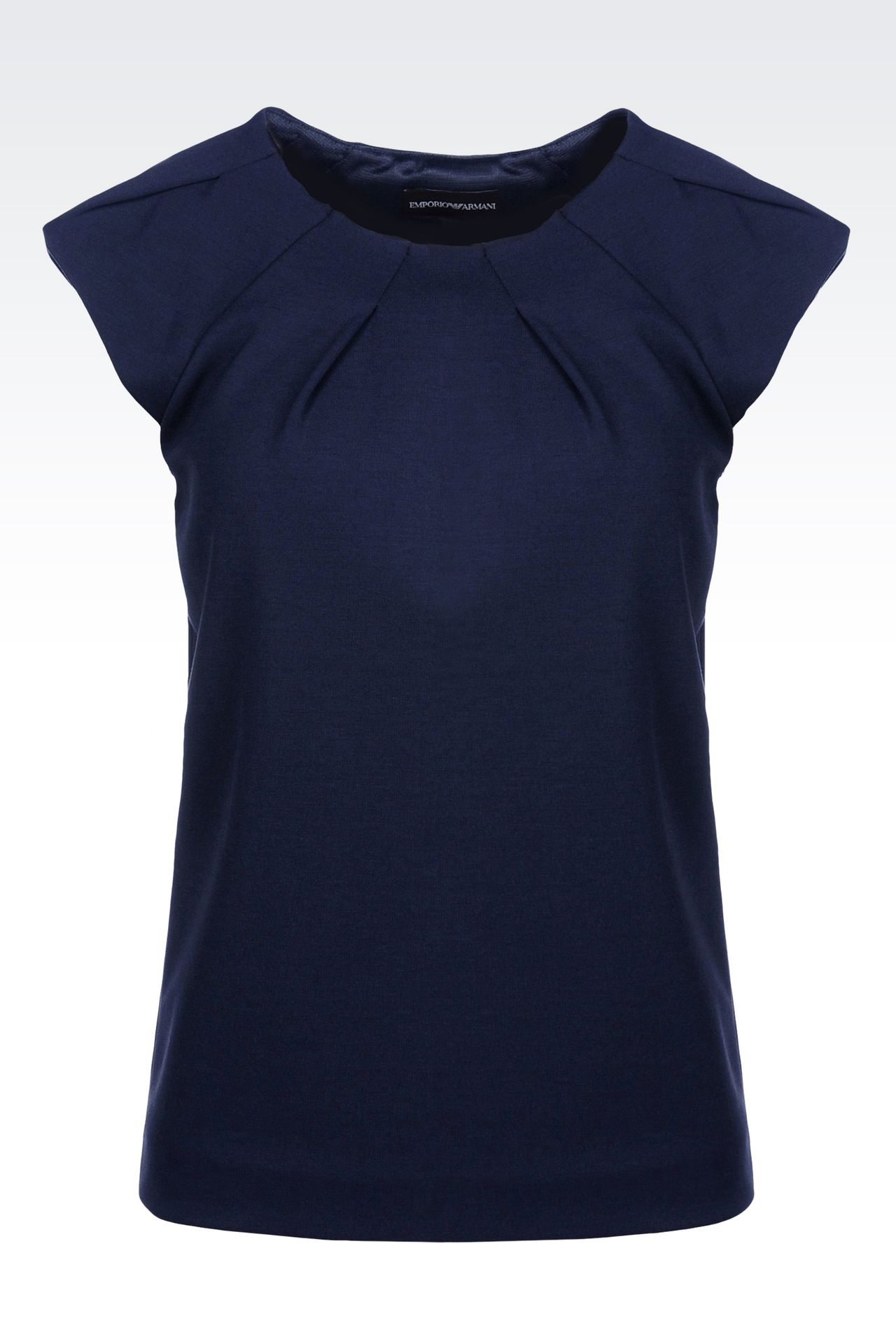 T-SHIRT IN MODAL WITH DARTS: Sleeveless tops Women by Armani - 0