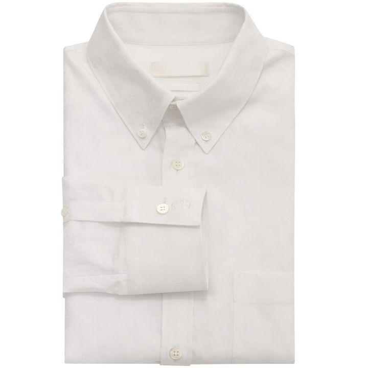 Alexander McQueen, Skull Jacquard Long Sleeve Shirt