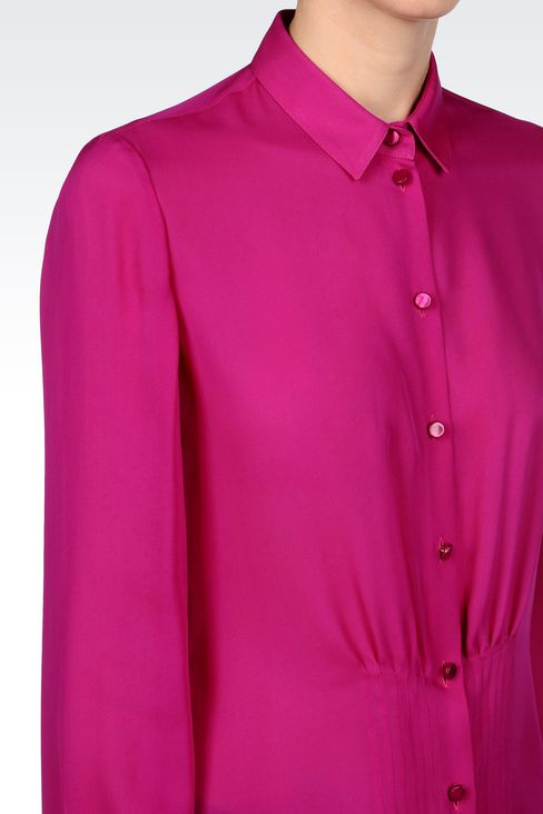 SILK SHIRT: Long sleeve shirts Women by Armani - 5