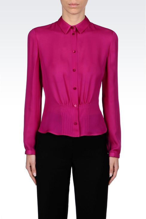 SILK SHIRT: Long sleeve shirts Women by Armani - 3