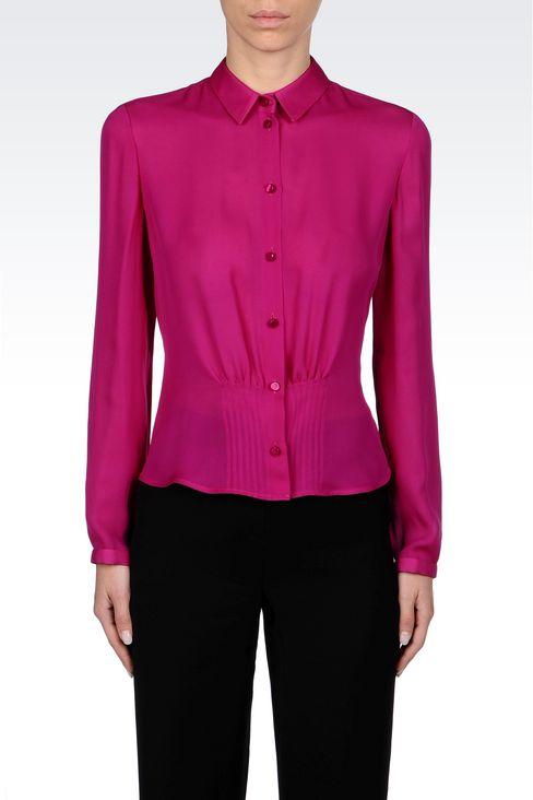 SILK SHIRT: Long sleeve shirts Women by Armani - 3