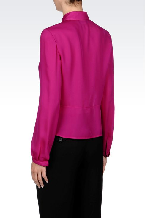 SILK SHIRT: Long sleeve shirts Women by Armani - 4
