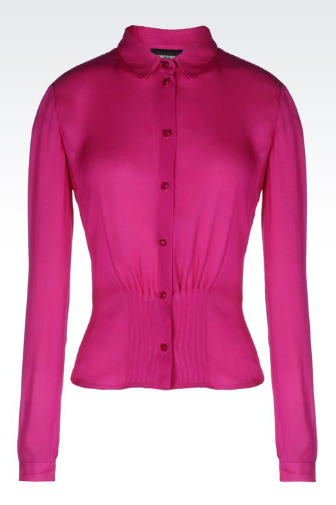 SILK SHIRT: Long sleeve shirts Women by Armani - 1
