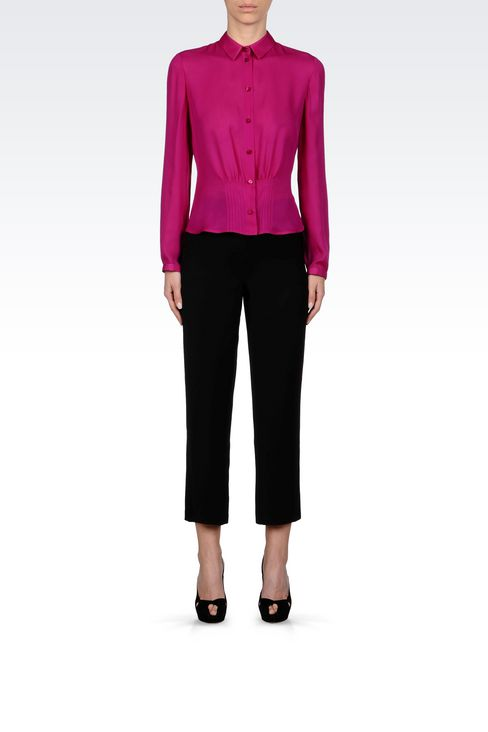 SILK SHIRT: Long sleeve shirts Women by Armani - 2