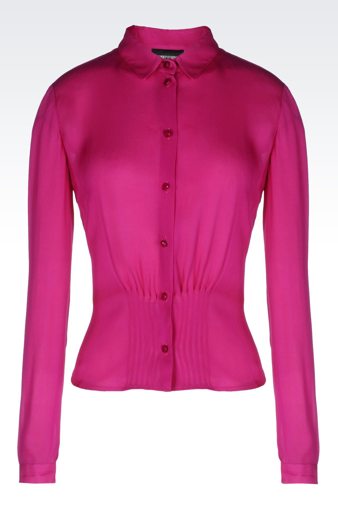 SILK SHIRT: Long sleeve shirts Women by Armani - 0