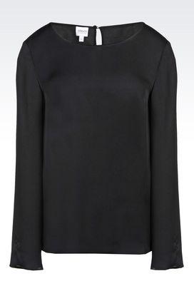 Armani Long sleeve shirts Women silk blouse