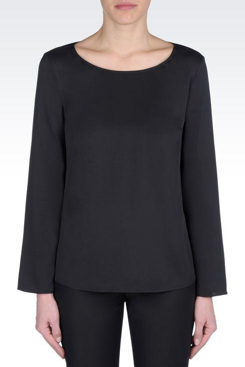 SILK BLOUSE: Long sleeve shirts Women by Armani - 3