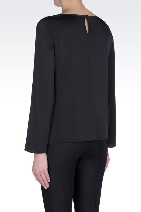 SILK BLOUSE: Long sleeve shirts Women by Armani - 4