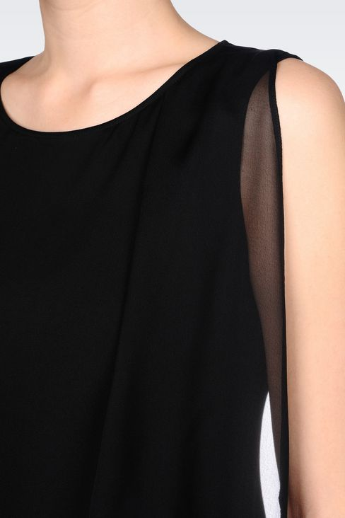 TOP IN CRÊPE DE CHINE: Sleeveless tops Women by Armani - 5
