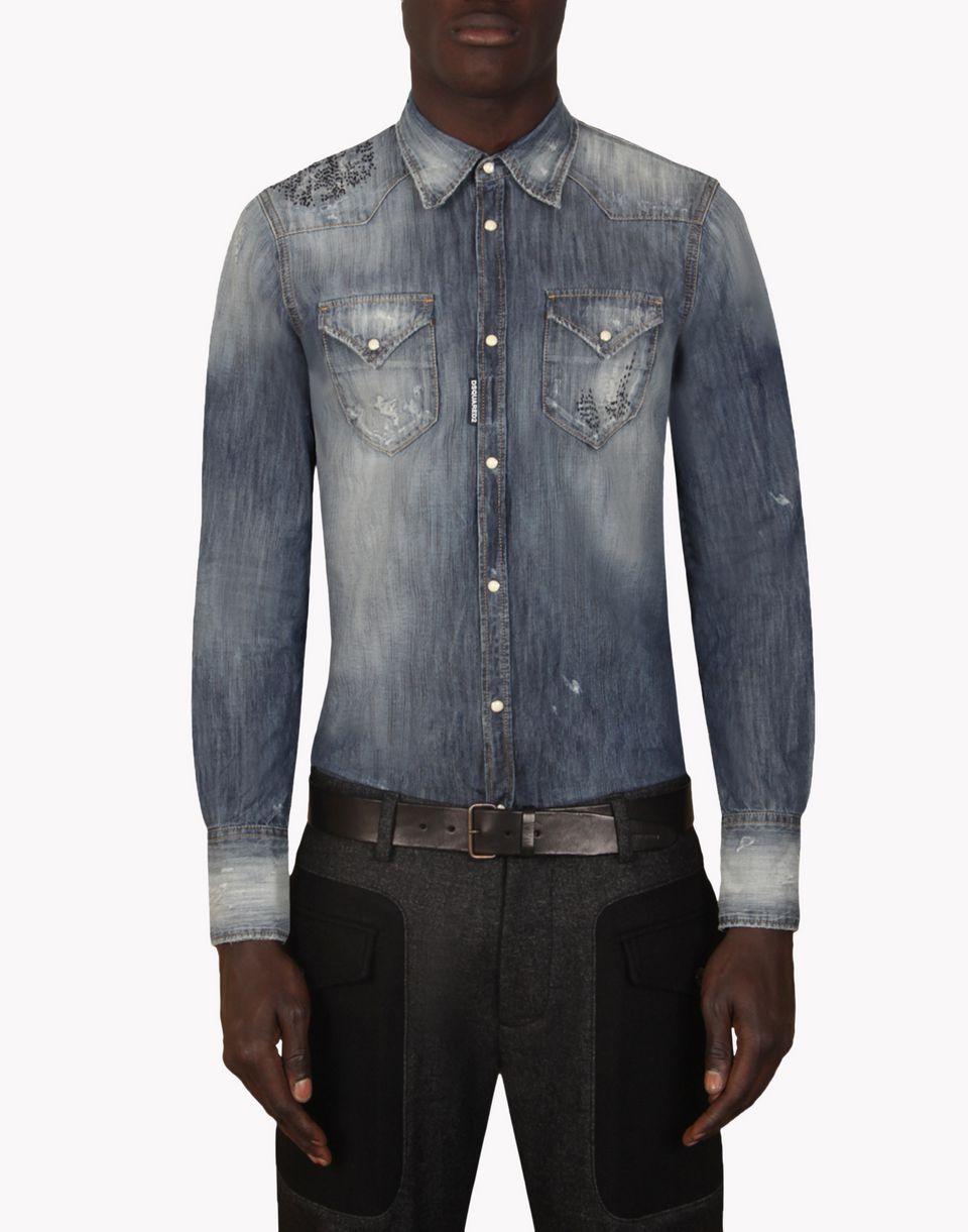 Dsquared2 shirt denim shirts men dsquared2 online store