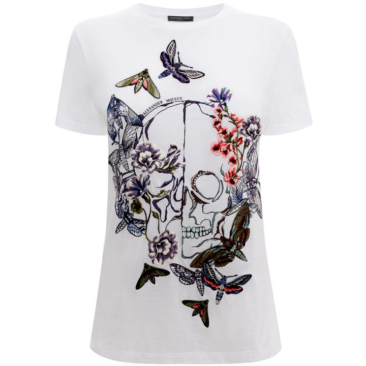 Alexander McQueen, Moth Embroidery Boxy T-Shirt