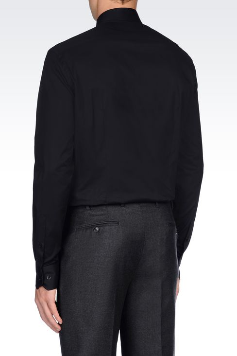 SHIRT IN STRETCH COTTON: Long sleeve shirts Men by Armani - 4