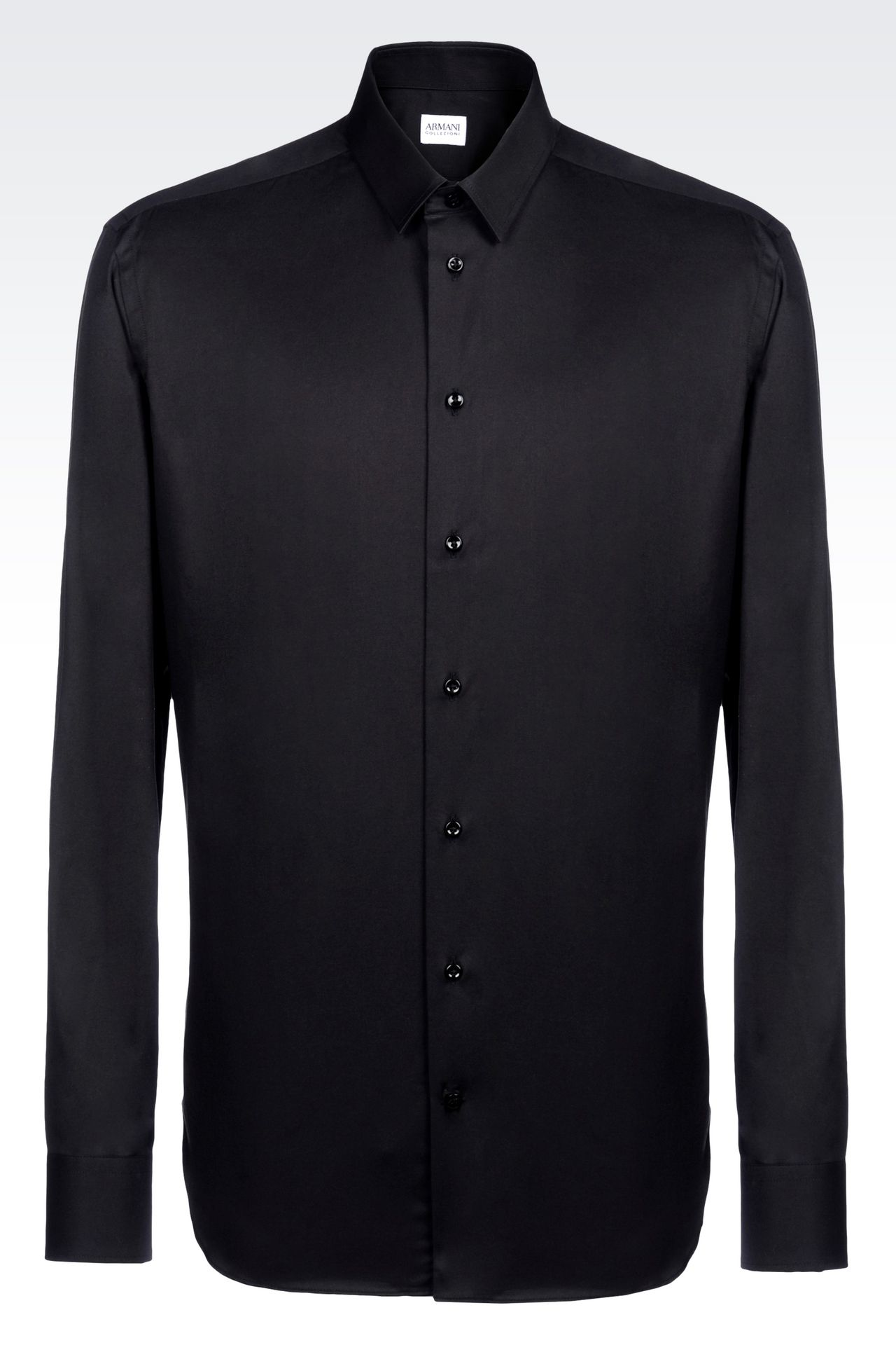 SHIRT IN STRETCH COTTON: Long sleeve shirts Men by Armani - 0