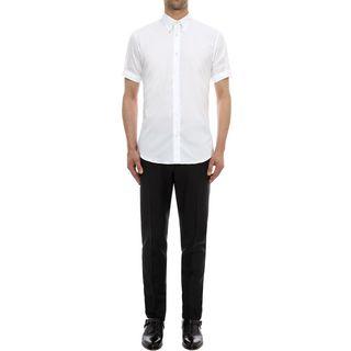 ALEXANDER MCQUEEN, Short Sleeve Shirt, Abstract Print Stretch Poplin Short Sleeve Shirt