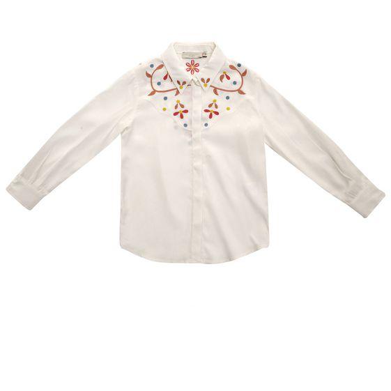 STELLA McCARTNEY KIDS, Blouses & Shirts, SWIFT EMBROIDERED BLOUSE