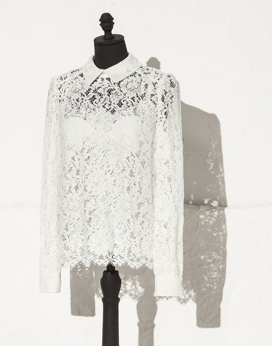 REBRODE FLORAL LACE BLOUSE - Blouses - Dolce&Gabbana - Summer 2015