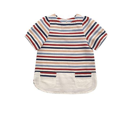 STELLA McCARTNEY KIDS, Blouses & Shirts, MAISY STRIPED BLOUSE