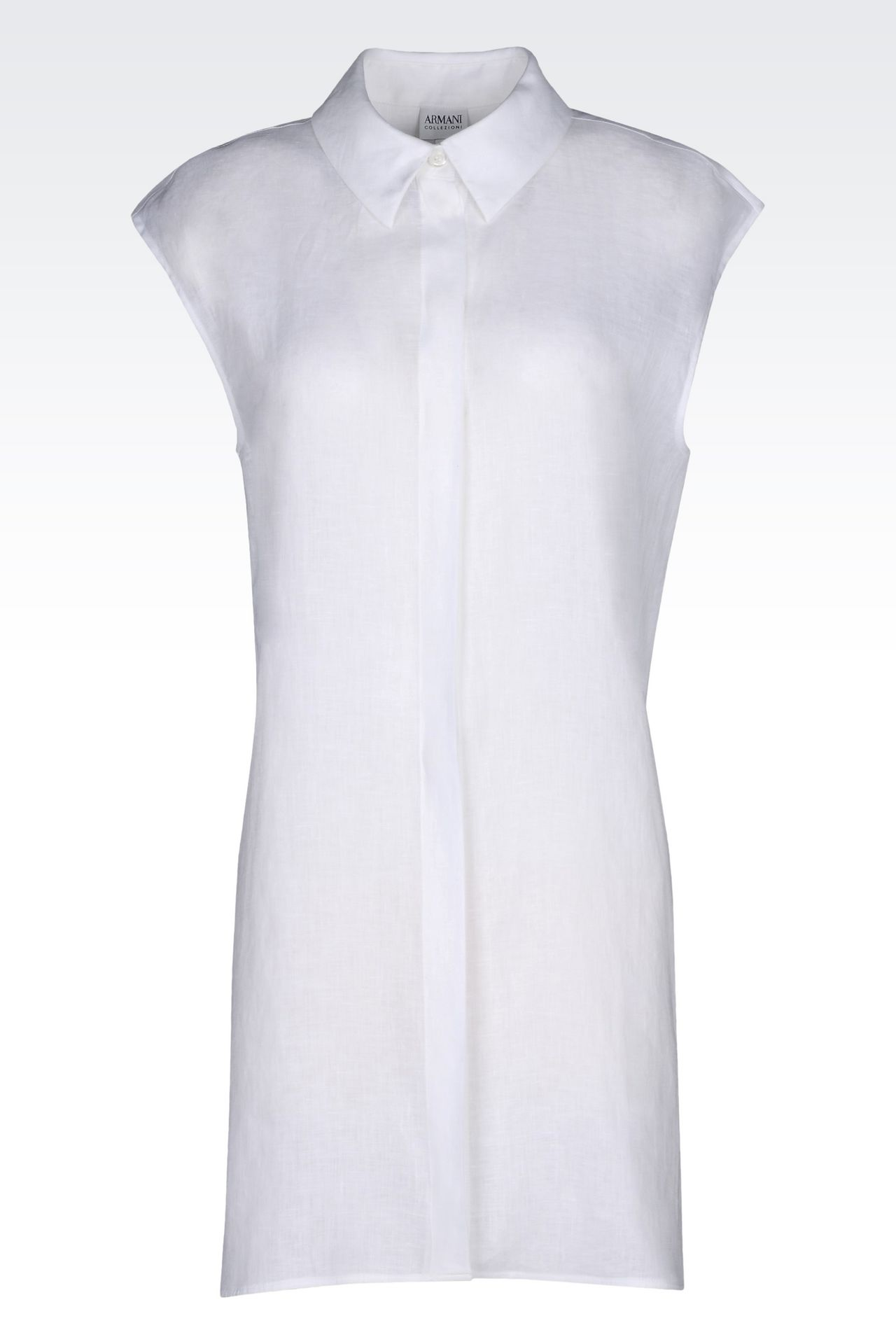 LONG LINEN SHIRT: Sleeveless shirts Women by Armani - 0