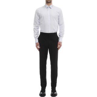 ALEXANDER MCQUEEN, Long Sleeve Shirt, Striped Double Collar Shirt