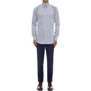 ALEXANDER MCQUEEN, Long Sleeve Shirt, Contrast Harness Shirt