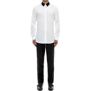 ALEXANDER MCQUEEN, Long Sleeve Shirt, Patchwork Collar Shirt