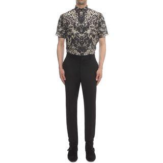 ALEXANDER MCQUEEN, Short Sleeve Shirt, Marble Print Short Sleeve Shirt