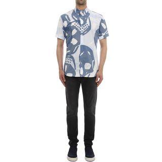 ALEXANDER MCQUEEN, Short Sleeve Shirt, Skull Camouflage Printed Short Sleeved Shirt