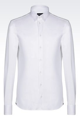 Armani Long sleeve shirts Men slim fit jersey shirt