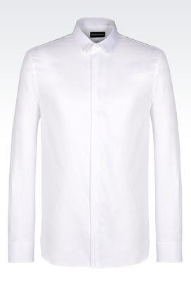 Armani Long sleeve shirts Men cotton shirt