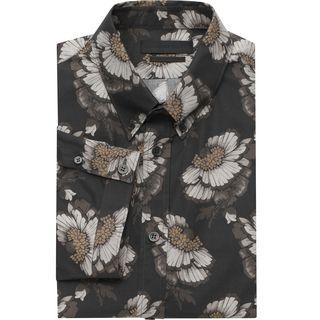 ALEXANDER MCQUEEN, Short Sleeve Shirt, Hibiscus Print Short Sleeve Shirt