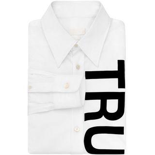 ALEXANDER MCQUEEN, Long Sleeve Shirt, Truth Print Long Sleeve Shirt