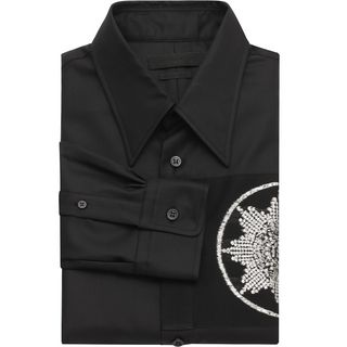 ALEXANDER MCQUEEN, Long Sleeve Shirt, Silver Jacquard Medal Shirt