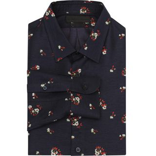 ALEXANDER MCQUEEN, Long Sleeve Shirt, Floral Classic Fit Shirt