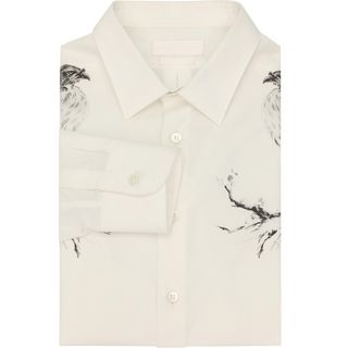 ALEXANDER MCQUEEN, Long Sleeve Shirt, Bird Print Shirt