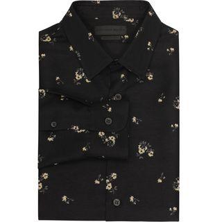 ALEXANDER MCQUEEN, Long Sleeve Shirt, Floral Contrast Insert Shirt