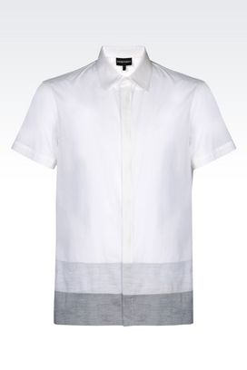 Armani Short sleeve shirts Men cotton shirt