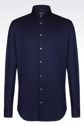 Armani Shirts Men shirt in stretch jacquard