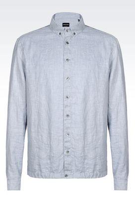 Armani Shirts Men linen shirt