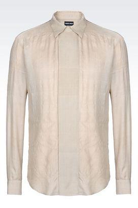 Armani Shirts Men silk shirt