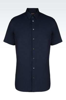 Armani Shirts Men shirt in stretch cotton