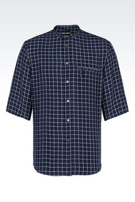 Armani Shirts Men shirt in checked cupro