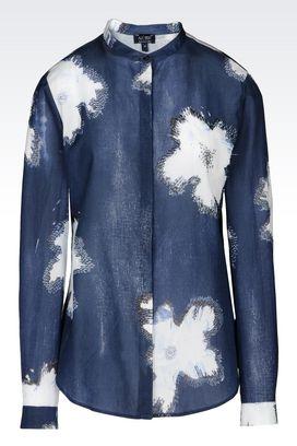 Armani Long sleeve shirts Women muslin shirt