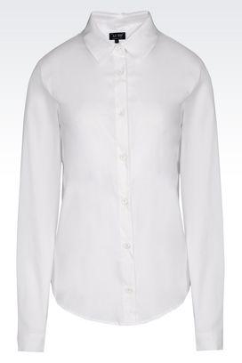 Armani Long sleeve shirts Women poplin shirt