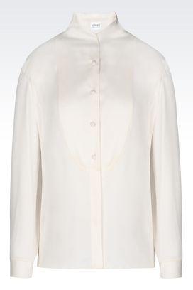 Armani Long sleeve shirts Women shirt in silk charmeuse