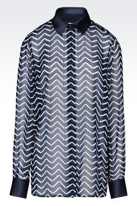 Armani Long sleeve shirts Women georgette shirt