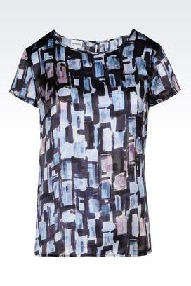 Armani Print shirts Women satin top